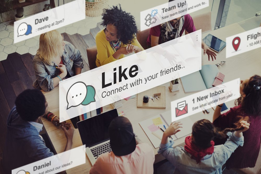 Online networking through social media